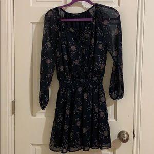 A&F size s floral chiffon dress